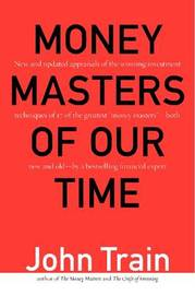 Money Masters of Our Time by John Train image
