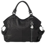 Isoki Hobo Angel Leather Bag - Black