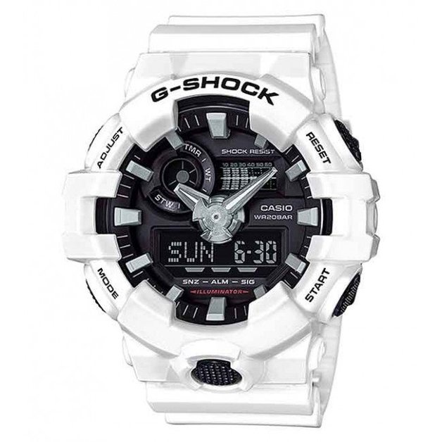 Casio G-Shock White Analogue/Digital Mens Watch GA700-7A GA-700-7A