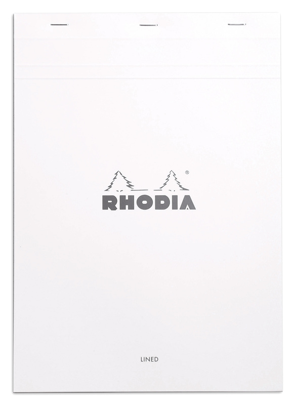 Bloc Rhodia White A4 - Lined