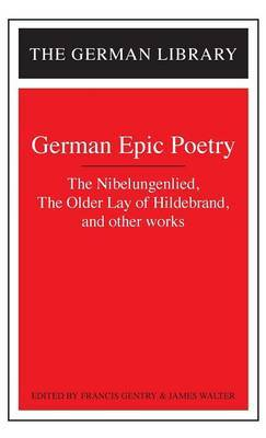 German Epic Poetry by Francis G Gentry image
