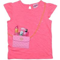 Shopkins Pink Pocket T-Shirt (Size 5)