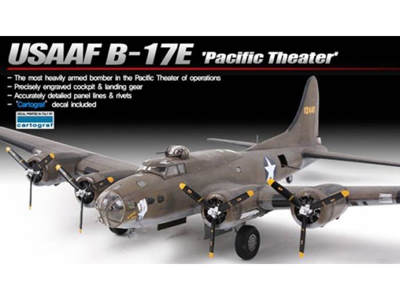 "Academy 1/72 B-17E ""Pacific Theatre"" Scale Model Kit image"
