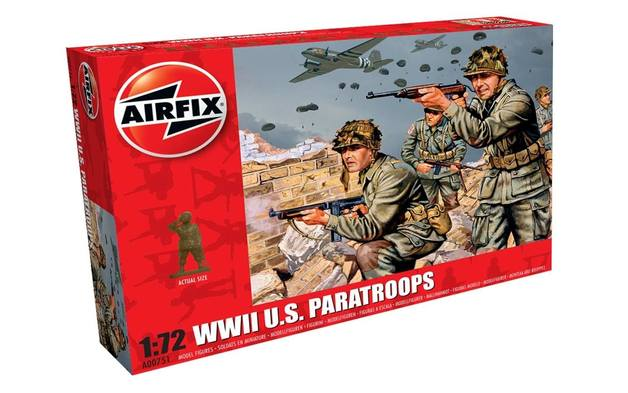 Airfix 1:72 WWII U.S. Paratroops Scale Model Kit