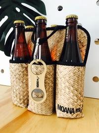 Moana Road: Six Pack Holder - Flax Print