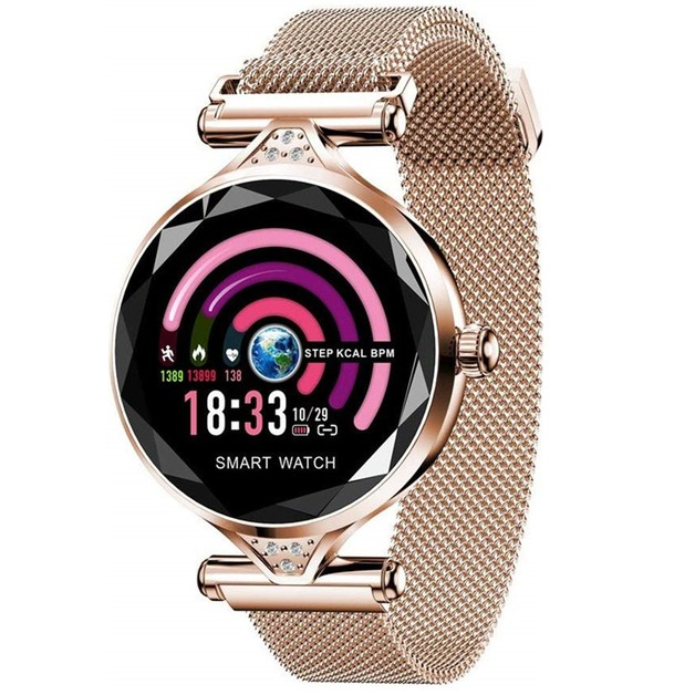 Smart Watch with Heart Rate & Blood pressure Monitor - Gold