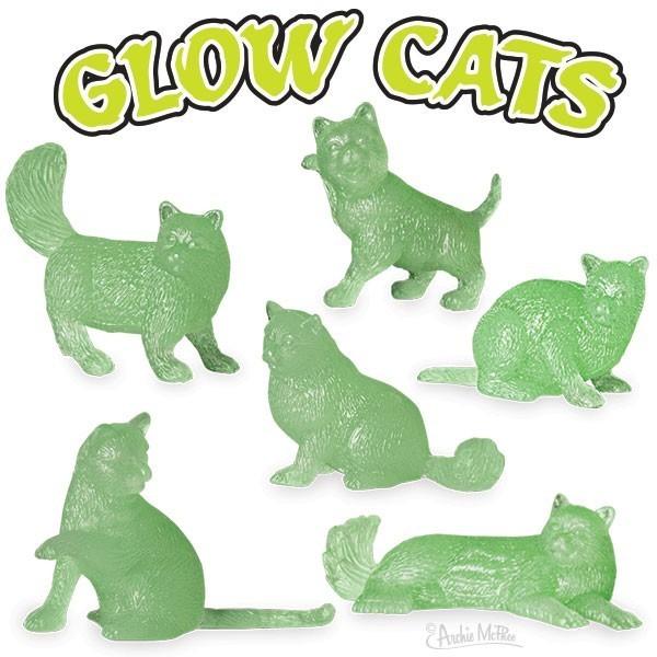 Glow Cats - Novelty Mini-Figure (Assorted Designs) [10 Pack Bundle]