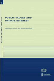 Public Values and Private Interests by Heather Campbell image