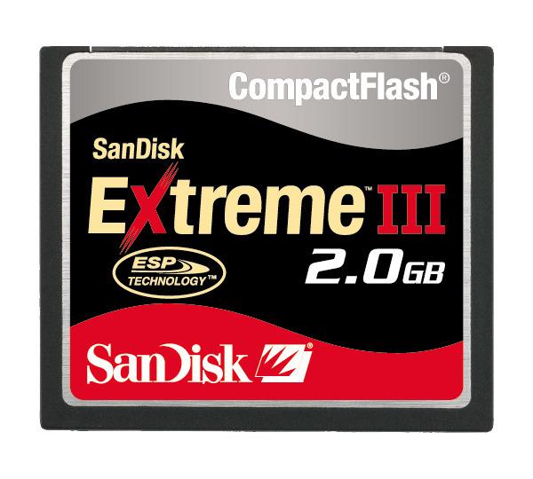 SANDISK EXTREME III 133X COMPACTFLASH 2GB