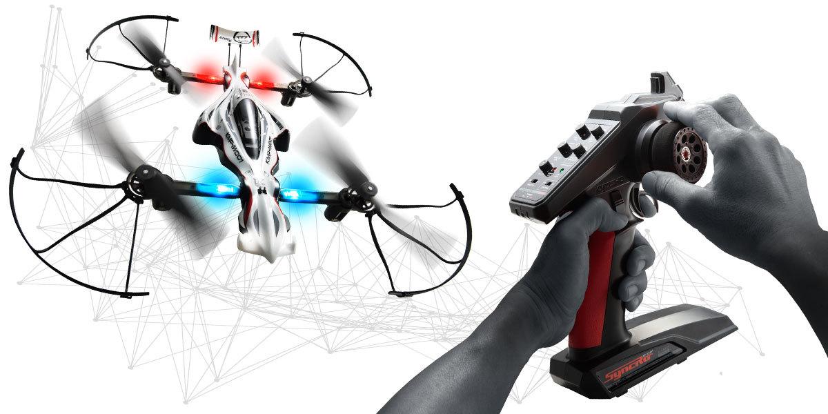 Kyosho 1:18 Radio Control Drone Racer Zephyr Ready Set (Black) image