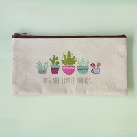 Natural Life: Recycled Zip Pencil Bag - Little Things (Large) image
