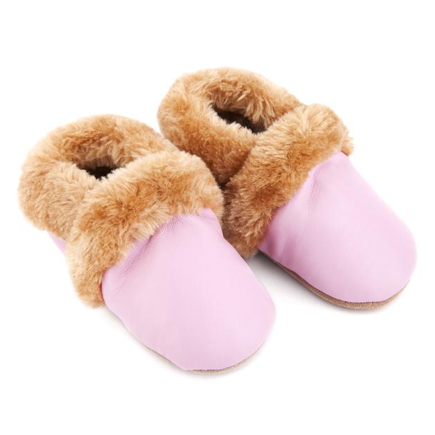 Skeanie: Pre-Walker Fur Shoes Pink - Medium