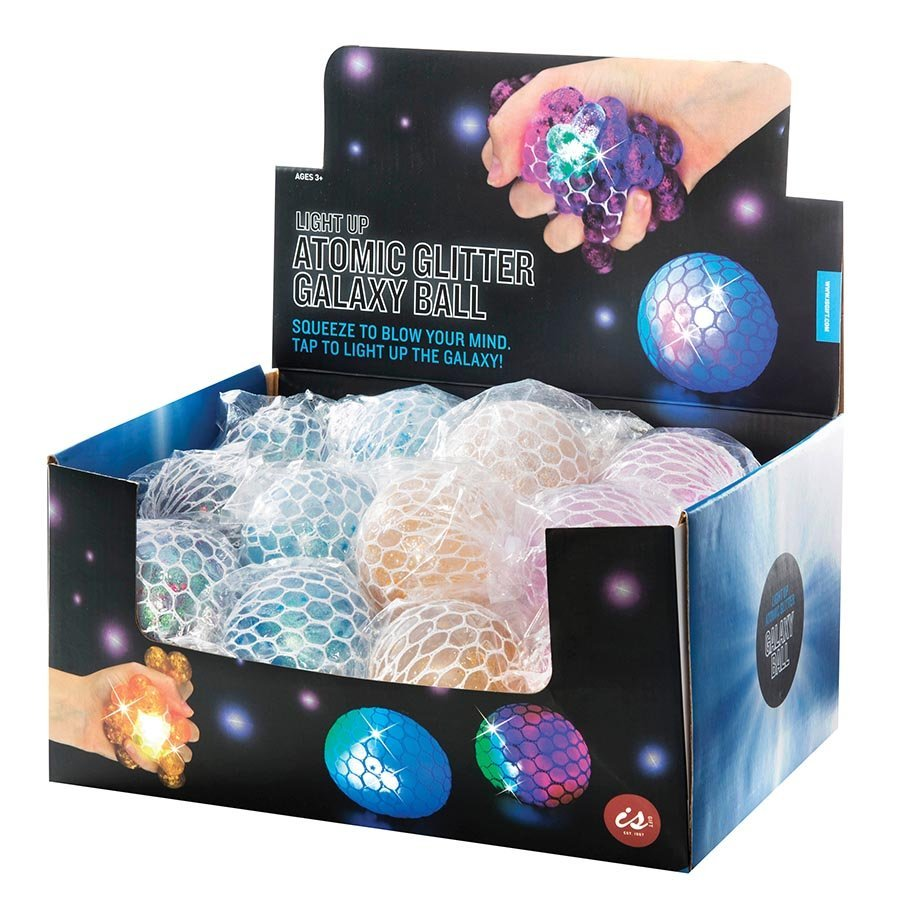 IS Gift: Atomic Glitter Galaxy Ball with Light image