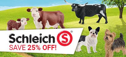 25% off Schleich!
