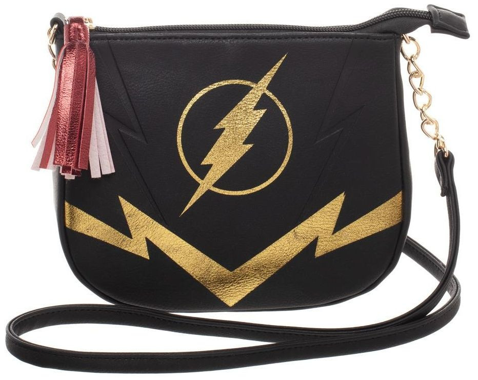 DC Comics: Flash Black & Gold - Crossbody Bag image