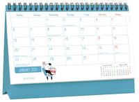 Milford: 2020 Flip Over Desk Calendar - Dog & Bird image