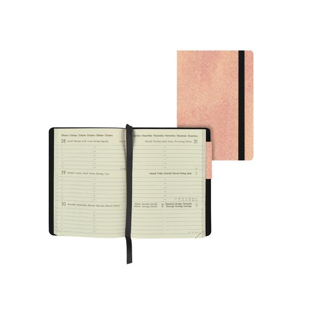 Legami: Mini Weekly 12 Month 2021 Diary - Metallic Rose Gold (8 x 11cm)