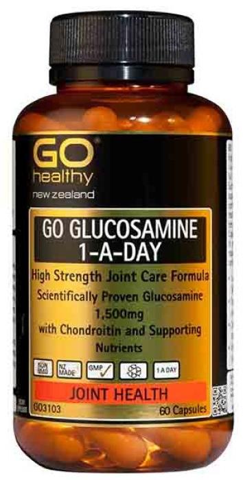 Go Healthy GO Glucosamine 1-A-Day 1500mg (60 Capsules)