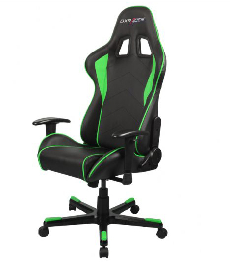 dxracer formula series gaming chair black and green buy now at mighty ape australia. Black Bedroom Furniture Sets. Home Design Ideas