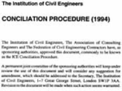 Ice Concilliation Procedure by Institution of Civil Engineers