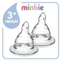 Minbie Teat Pack 3 month+ (2 Pack)