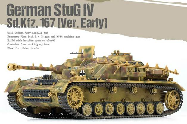 Academy German StuG IV Sd.Kfz.167 [Ver.Early] 1/35 Model Kit