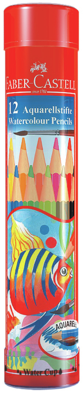 Faber-Castell: Watercolour Pencils (Tube of 12)