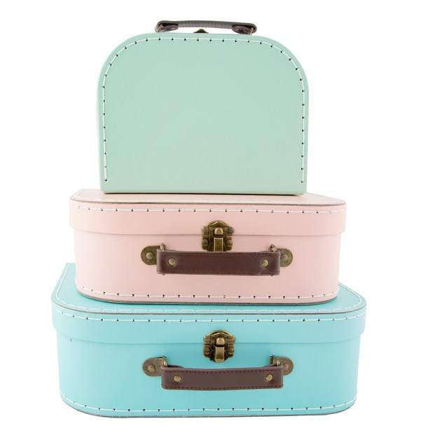 Sass & Belle: Pastel Retro Suitcases - (Set Of 3)