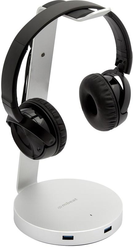 Zack Aluminum Headphone Stand + USB Hub