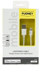 Pudney: USB A Plug To Lightning Plug 1 Metre - White