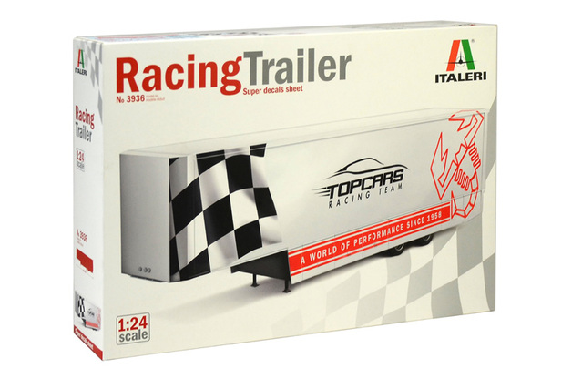 Italeri 1/24 Racing Trailer - Scale Model Kit