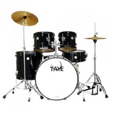 Taye GAD522S Galactic Audition 5pc Drum Kit with Cymbal (Black)