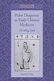University of Cambridge Oriental Publications: Series Number 68 by Elisabeth Hsu