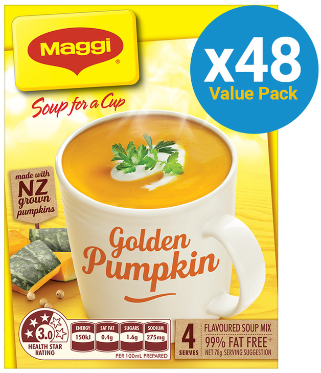 MAGGI Soup for a Cup Golden Pumpkin 78g 48pk