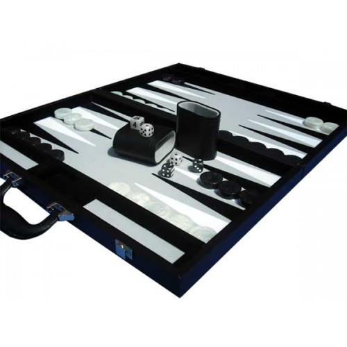 "Dal Rossi Backgammon 18"" PU Leather - Black image"