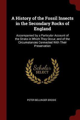 A History of the Fossil Insects in the Secondary Rocks of England by Peter Bellinger Brodie