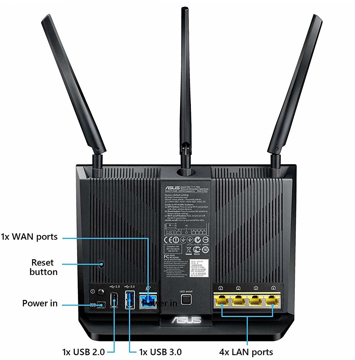 ASUS RT-AC68U AC1900 Dual Band Gigabit Wi-Fi Router image