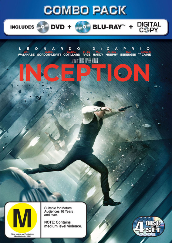 Inception - Combo Pack (Blu-ray/DVD) (Carboard Slipcase) on DVD, Blu-ray