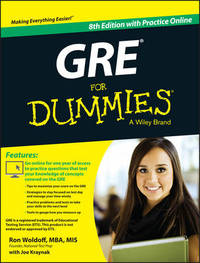 GRE For Dummies by Ron Woldoff