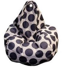 Beanz Big Bean Indoor/Outdoor Bean Bag Cover - Taupe with Black Dots