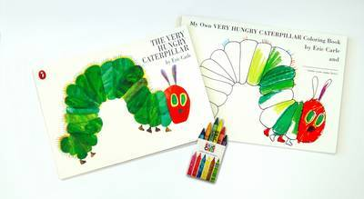 The Very Hungry Caterpillar Gift Pack (Book + Colouring Book + Crayons) by Eric Carle image