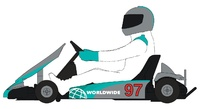 Scalextric: DPR Super Kart (Grey) - Slot Car