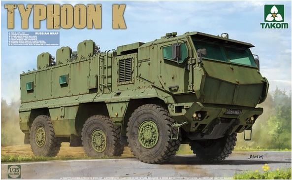 Takom 1/35 KamAZ-63968 Typhoon K MRAP Model Kit image