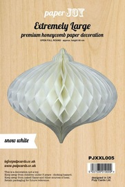 Paper Honeycomb Hanging Bauble - Snow White (60cm)