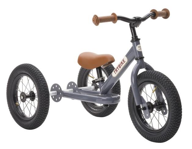 Trybike: 2-In-1 Steel Balance Bike - (Grey/Brown)