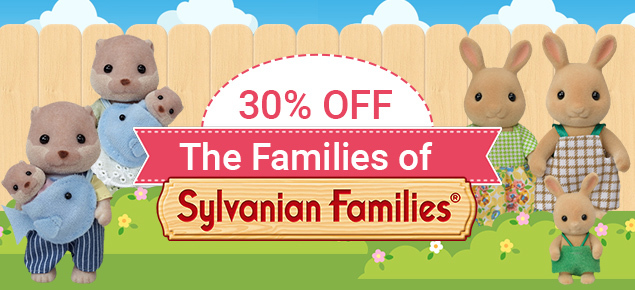 30% off Sylvanian Family Families!
