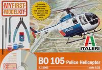 Italeri My First Model Kit BO 105 Police Helicopter - 1:32 Model Kit