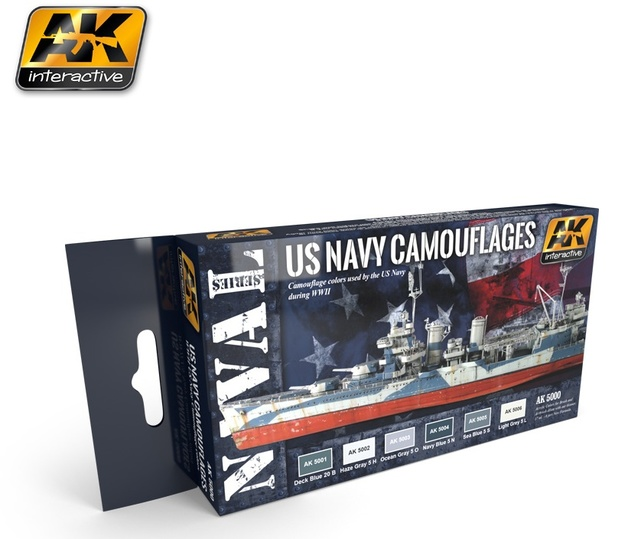AK US Navy Camouflages - Naval Paint Set
