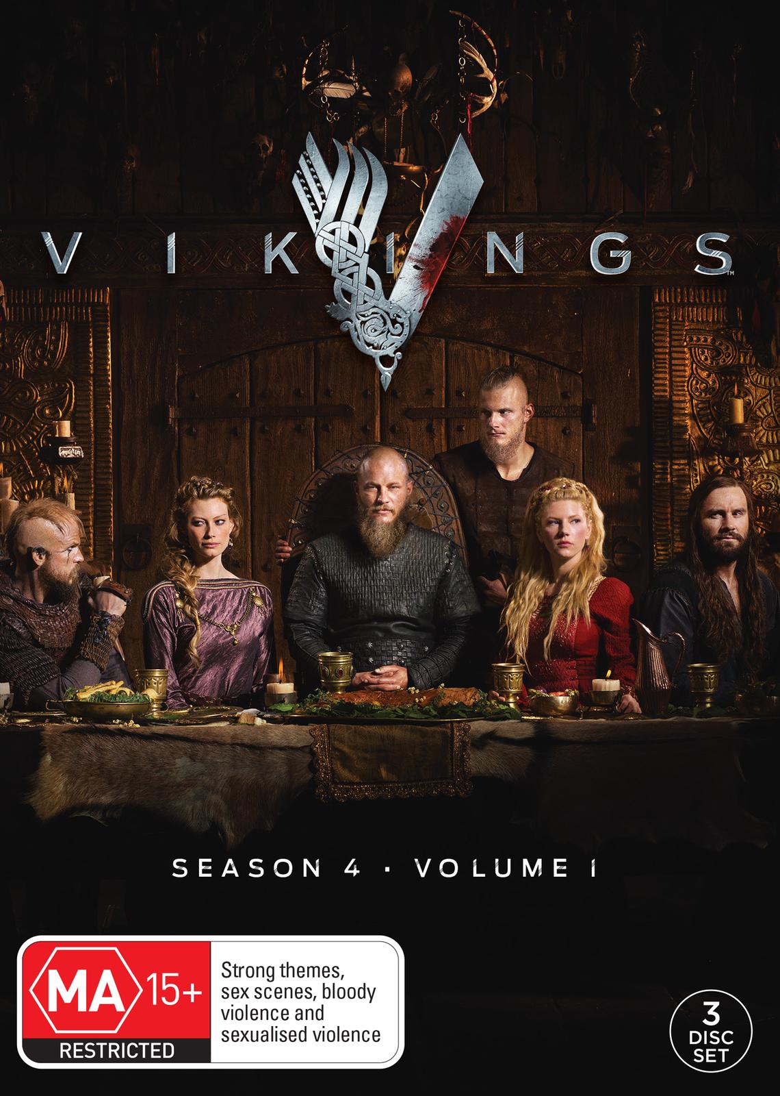 Vikings: Season 4 - Volume 1 on DVD image