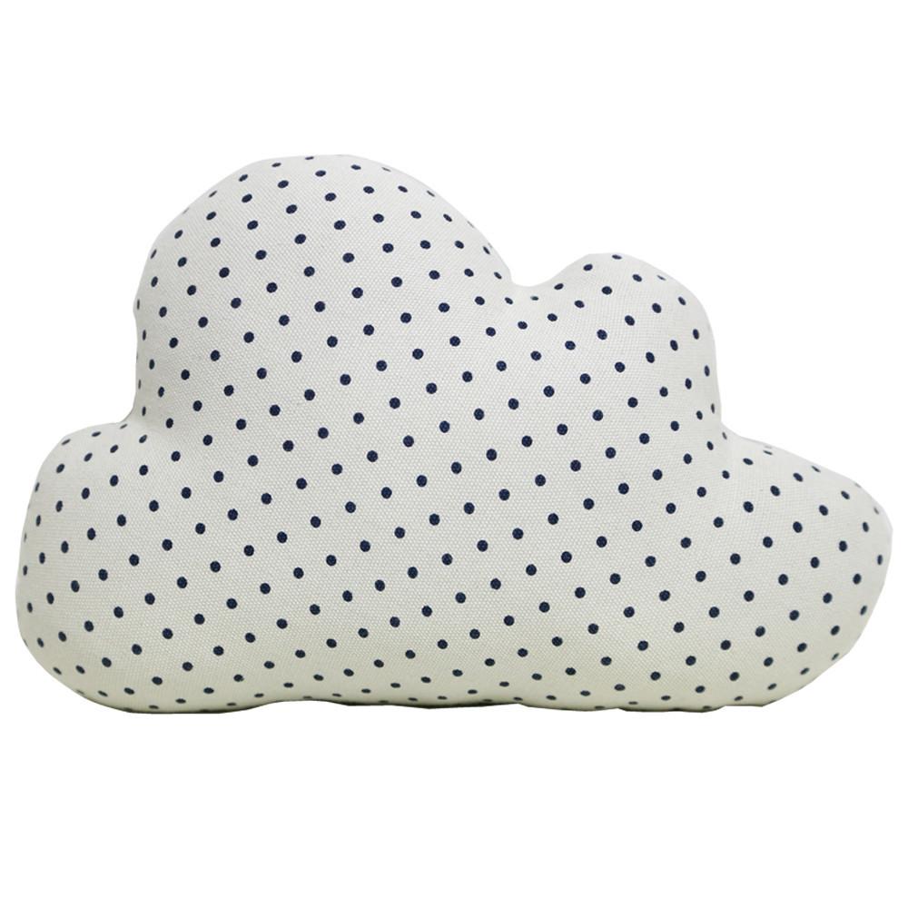 Cloud Cushion - White Polka Dot (Large) image
